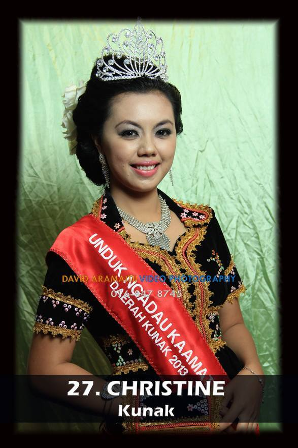 Unduk Ngadau Christine from Kunak 2013