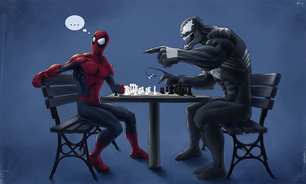 SpiderMan_Venom_Chess