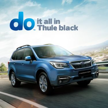 FORESTER THULE BLACK PACK