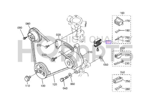 D750/D850/D950/V1100/V1200/D722/WG600/WG750 Kubota Regulator RP201-53710 -  RP201-53710 | High Quality PartsHigh Quality Parts