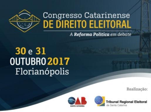 Inscrições abertas para o Congresso de Direito Eleitoral/SC