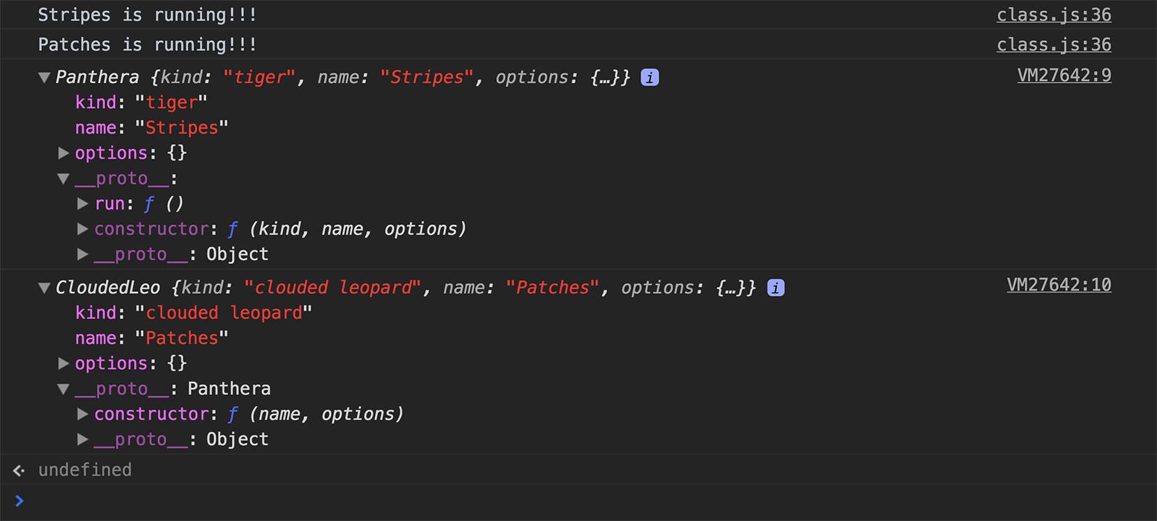 Sharing methods via the prototype chain
