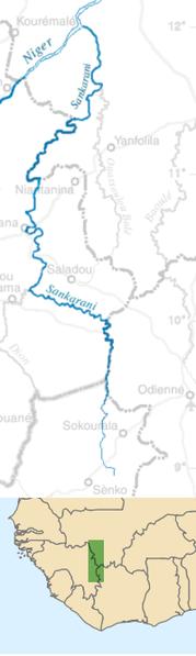 Sankarani map