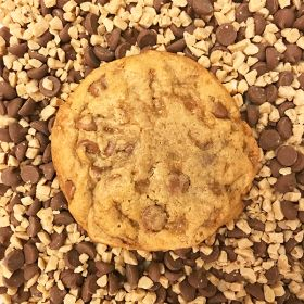 After Dark Cookies presents the Milk Toffee cookie