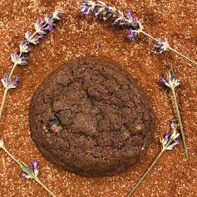 After Dark Cookies presents the Lavender Cocoa  cookie