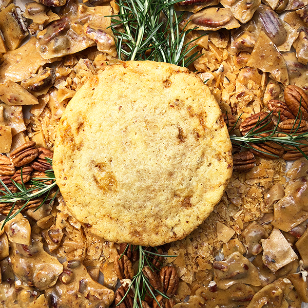 After Dark Cookies presents the Rosemary Pecan Brittle cookie