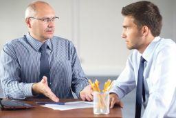 Executives work together