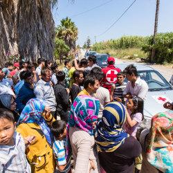 Hjælp flygtninge i Europa
