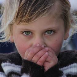 Barn som fryser