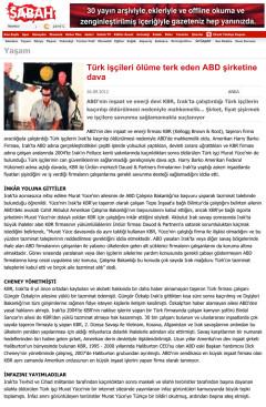 Türk işçileri ölüme terk eden ABD şirketine dava