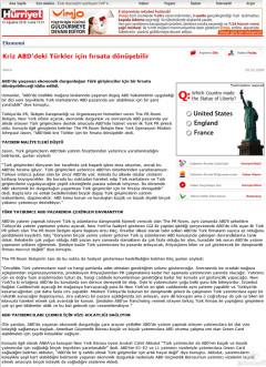 Kriz ABD'deki Türkler için fırsata dönüşebilir