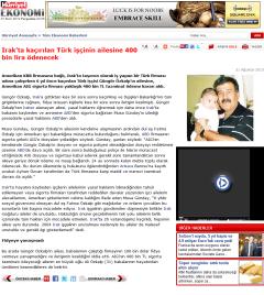 Irak'ta kaçırılan Türk işçinin ailesine 400 bin lira ödenecek
