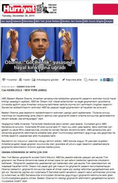 """Obama, """"Göçmenlik"""" yasasında hayal kırıklığına uğradı"""