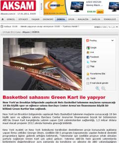 Basketbol sahasini greencard ile yapiyor