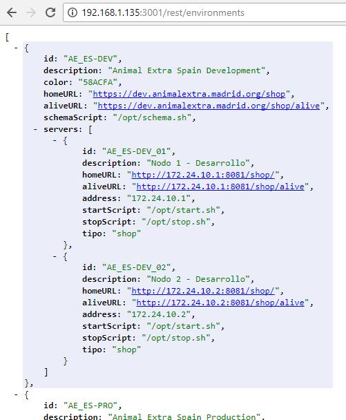 Ejemplo de archivo de configuración de commander