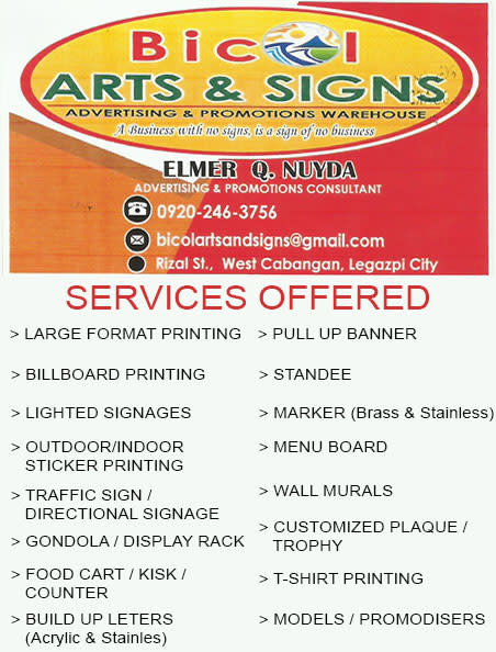 Bicol Arts and Signs