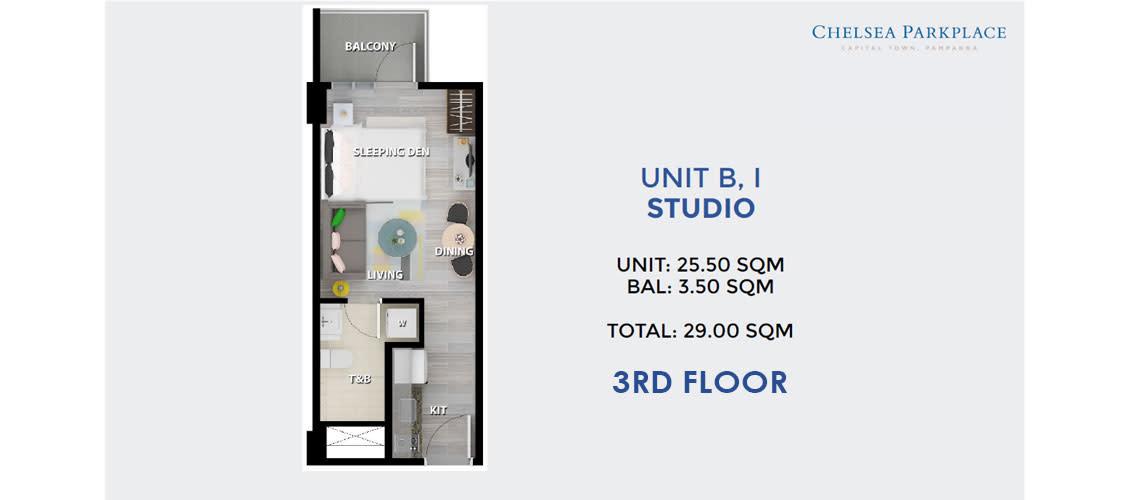 Studio Unit B, I 3rd Floor
