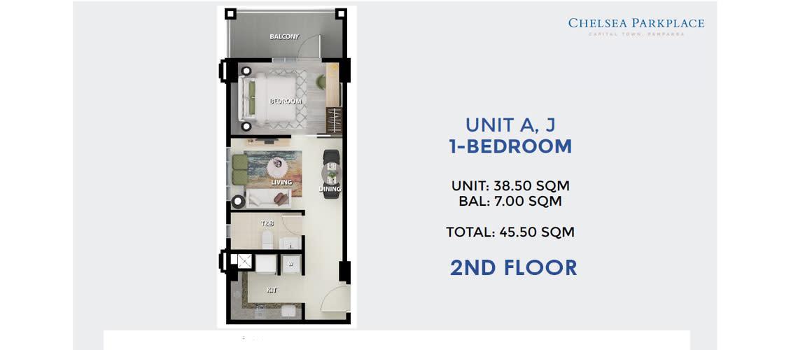 1 BR Unit A, J 2nd Floor