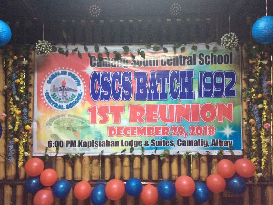 CSCS Camalig South Central School Batch 1992 Reunion