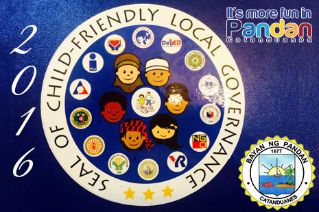 Seal of 2016 Child Friendly Child Governance