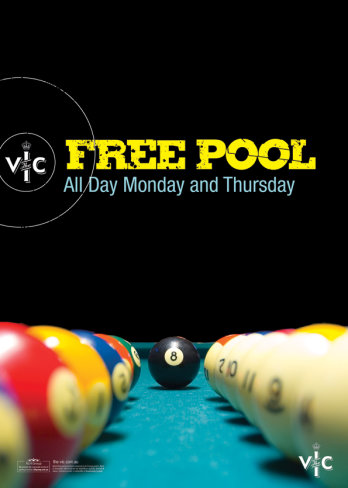 Monday and Thursday Free Pool