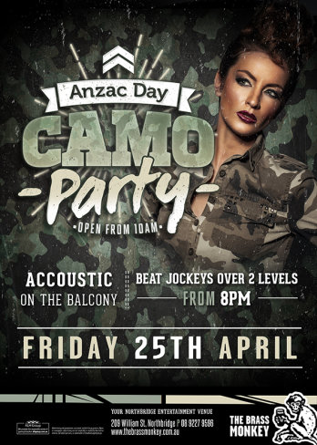 Anzac Day Camo Party