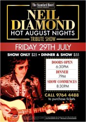Neil Diamond Hot August Nights Tribute Show