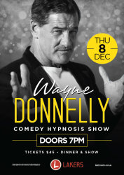 Wayne Donnelly Comedy Hypnosis