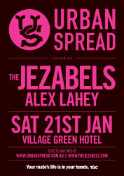 Urban Spread Featuring The Jezabels with Special Guest Alex Lahey
