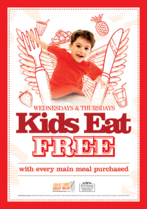 Kids Eat Free! Wednesdays and Thursdays