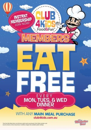Monday - Wednesday Night Kids Eat Free