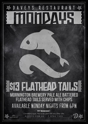 Monday Night $13 Flathead Tails & Chips