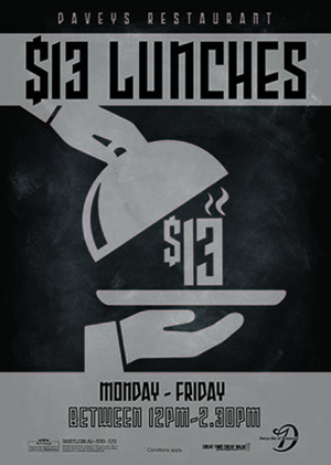 Weekday $13 Lunch Specials