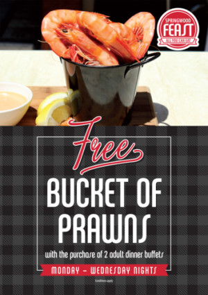 Free Bucket of Prawns