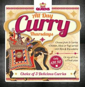 Thursday $24.90 All Day Curry