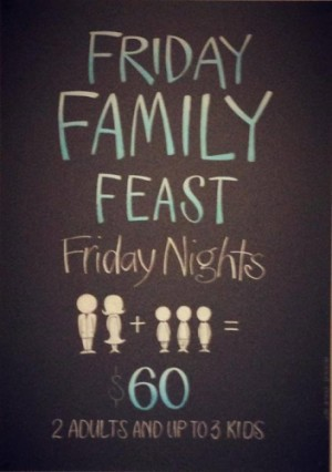 Friday $60 Family Feast