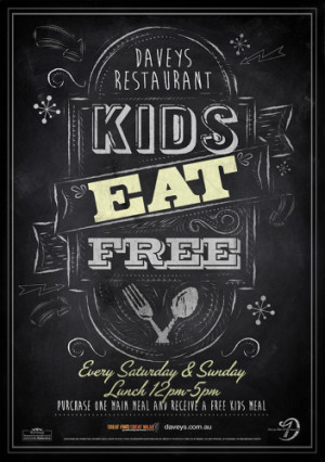 Kids Eat Free Weekend Lunch