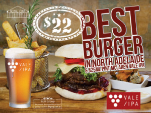 McLaren Vale IPA and Best Burger in North Adelaide for $22
