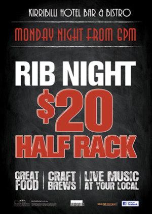 Monday Night $20 Ribs