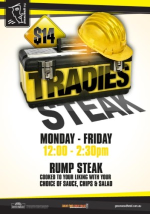 $14 Tradies Steak