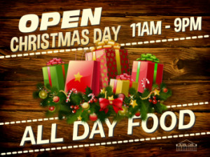 Open For Food Christmas Day!