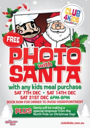 Club 4 Kids - Photo with Santa