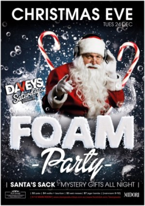 Christmas Eve Foam Party