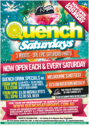 Quench Saturdays