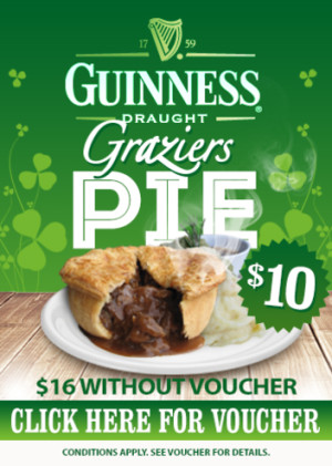 VOUCHER: $10 Guinness Graziers Pie