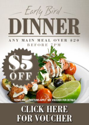 VOUCHER: Early Bird Dinner