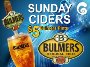 Sunday $5 Ciders