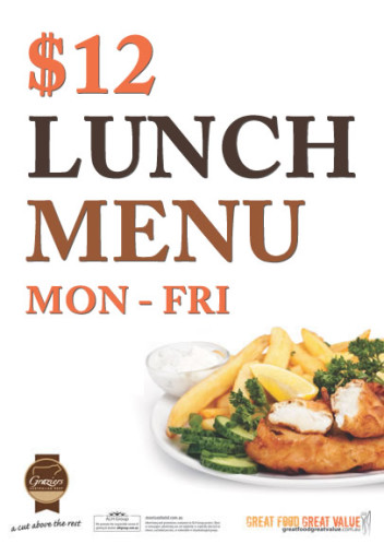 Light Lunch Special - $12 Mon-Fri