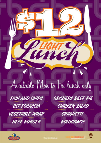 Weekday $12 Light Lunch