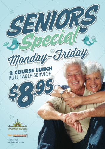 Monday - Friday Seniors Specials